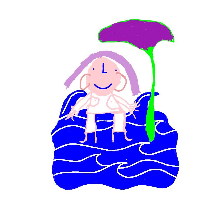 Illustration: Eine Person steht auf dem Wasser.